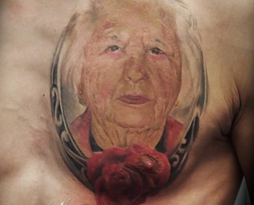 tatuaje realismo retrato color valencia