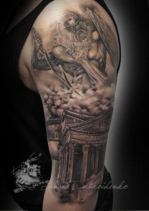 tatuajes religiosos de dioses zeus panteon roma antigua valencia