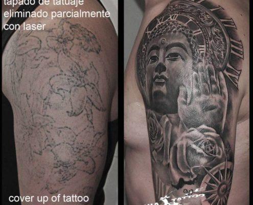 tattoo tatuaje cover eliminacion con laser valencia realista