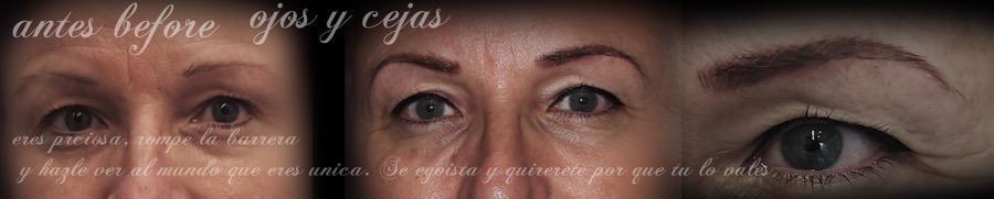 Antes y Despues Micropigmentacion de Ojos y Cejas