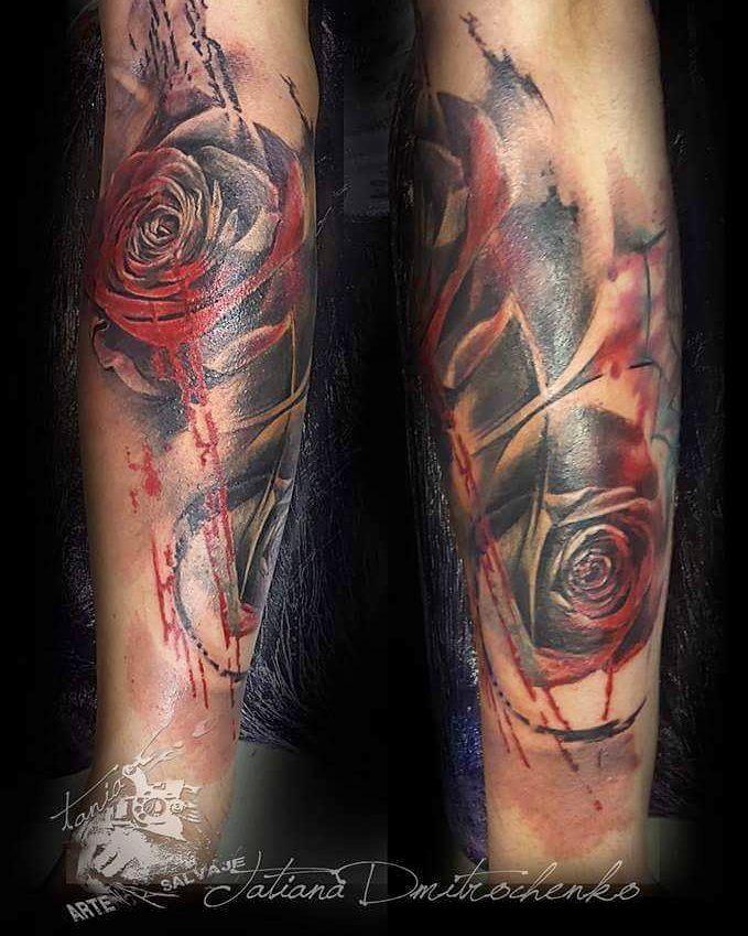 tatuaje de flores