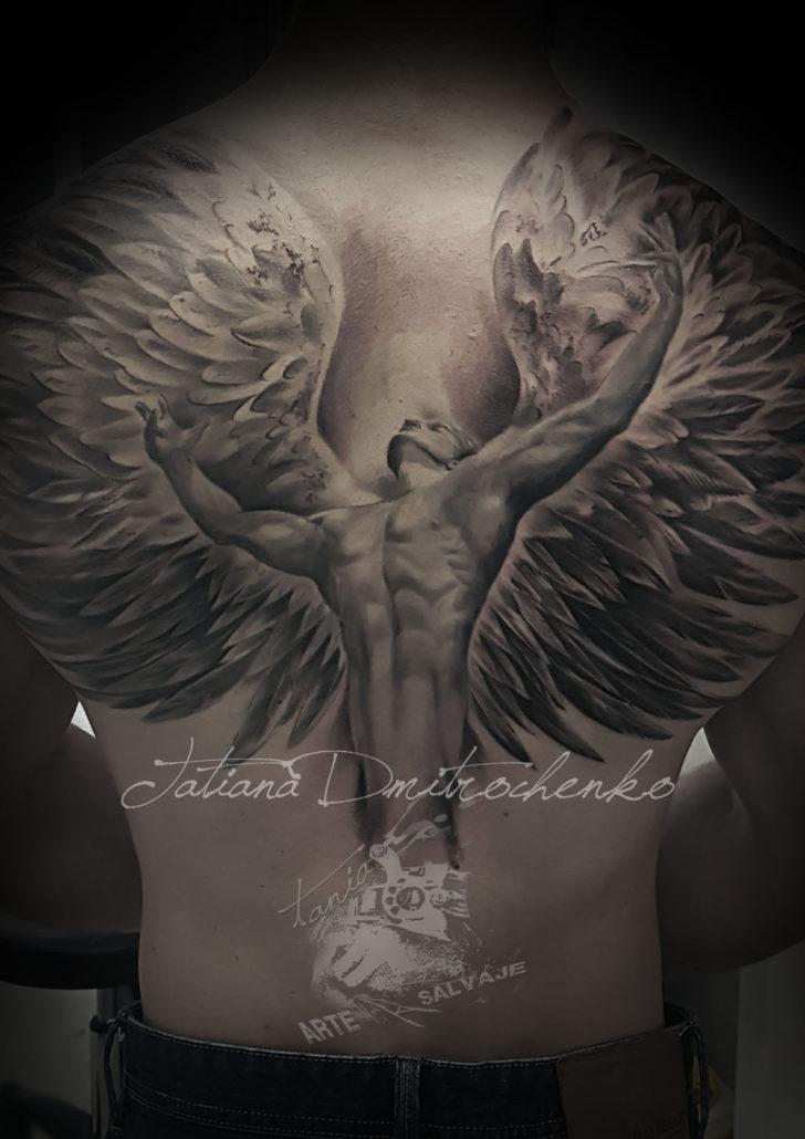 tatuajes de angeles con alas en la espalda valencia