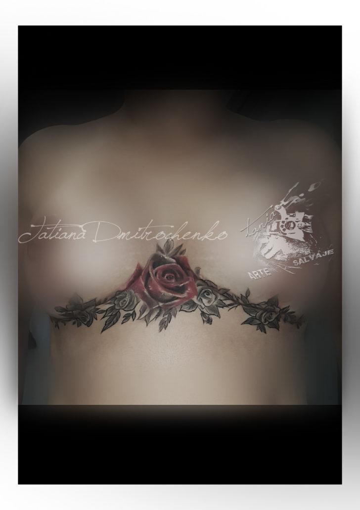 tatuaje cover up tattoo scar cicatric reconstruccion en valencia