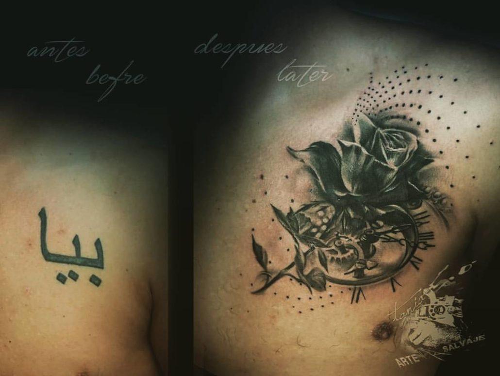 tattoo rosa cover up tatuajes abstractos realista en valencia