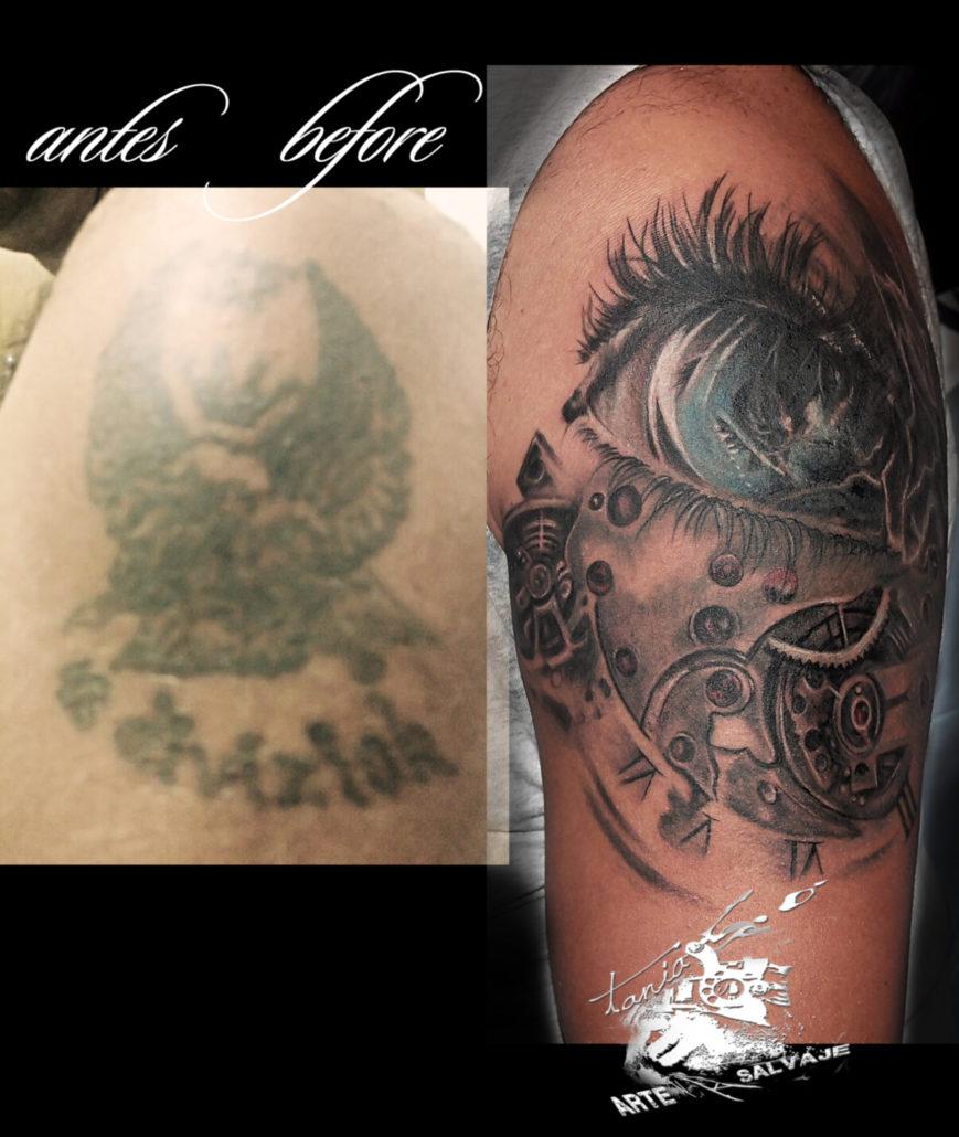 tattoo tatuaje cover up con ojo valencia