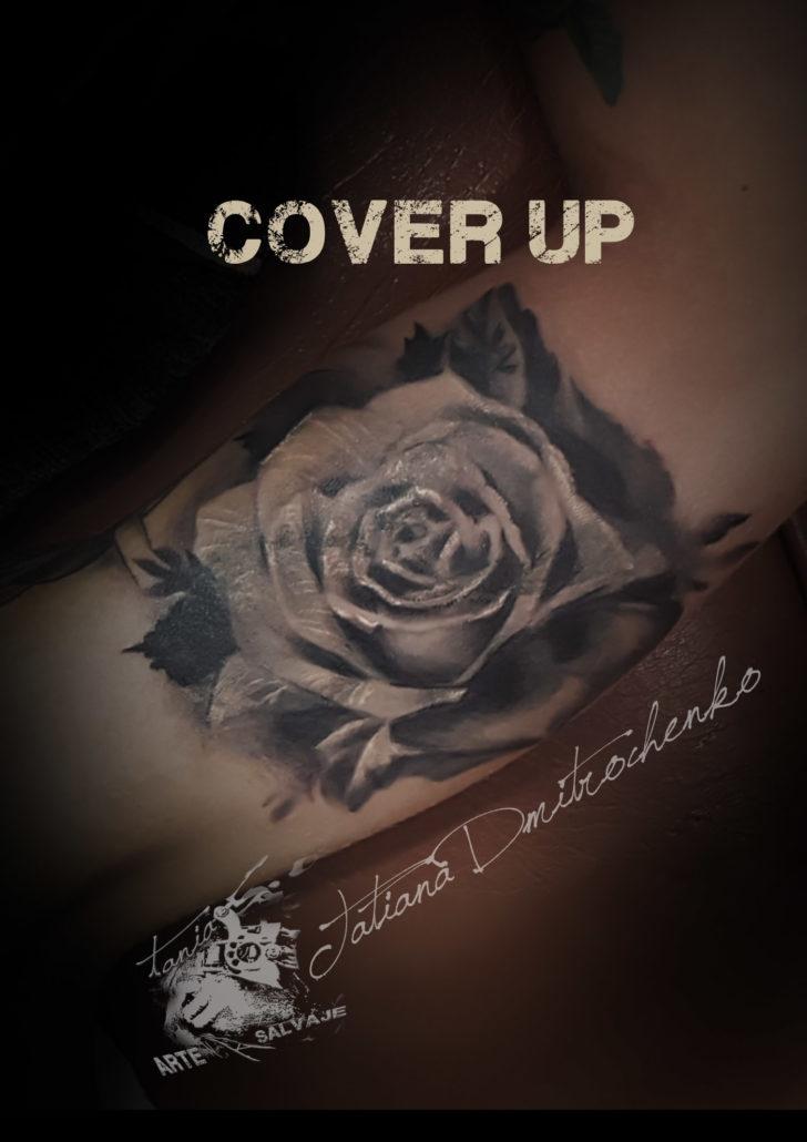 tatuajes cover up rosa valencia
