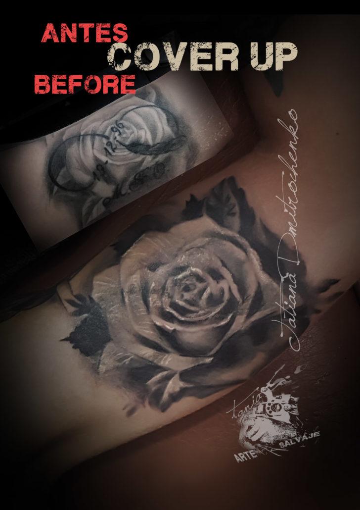 tatuaje cover up rosas