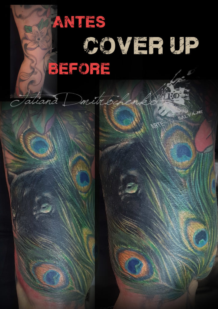 tatuajes realistas coverup cover up valencia color