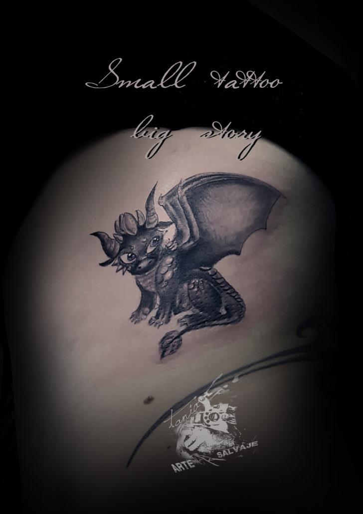 tatuajes pequeños dragon valencia