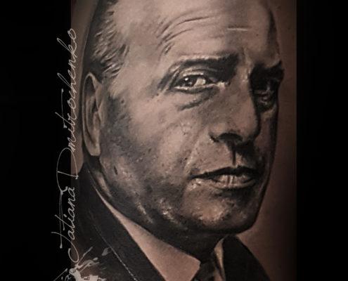 tatuajes realistas retrato blanco y negro