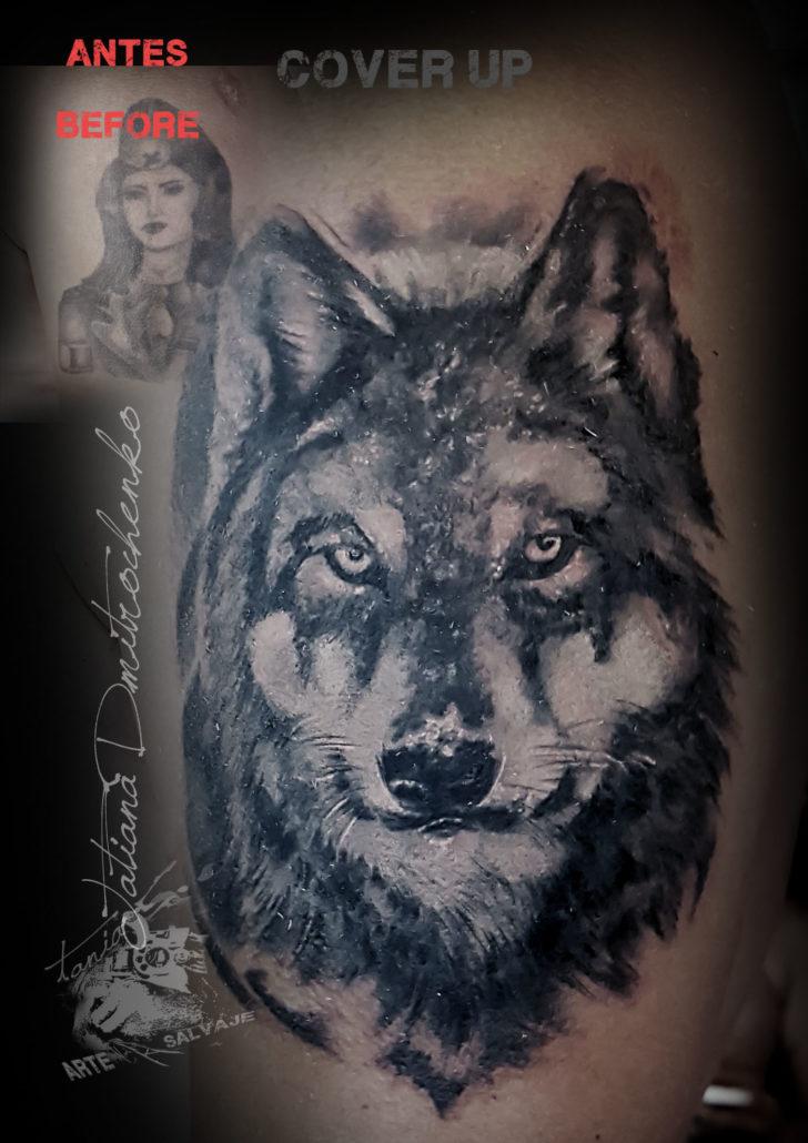 tatuajes cover up de lobos lobo en valencia