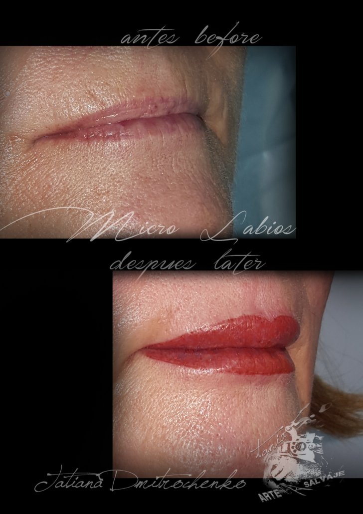 micropigmentacion labios relleno rojo vivo sin contorno valencia
