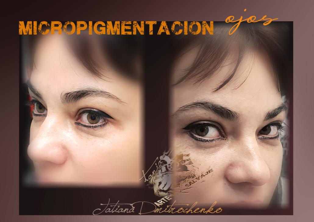 micropigmentacion ojos eyeliner tatuados raya ariba abajo valencia
