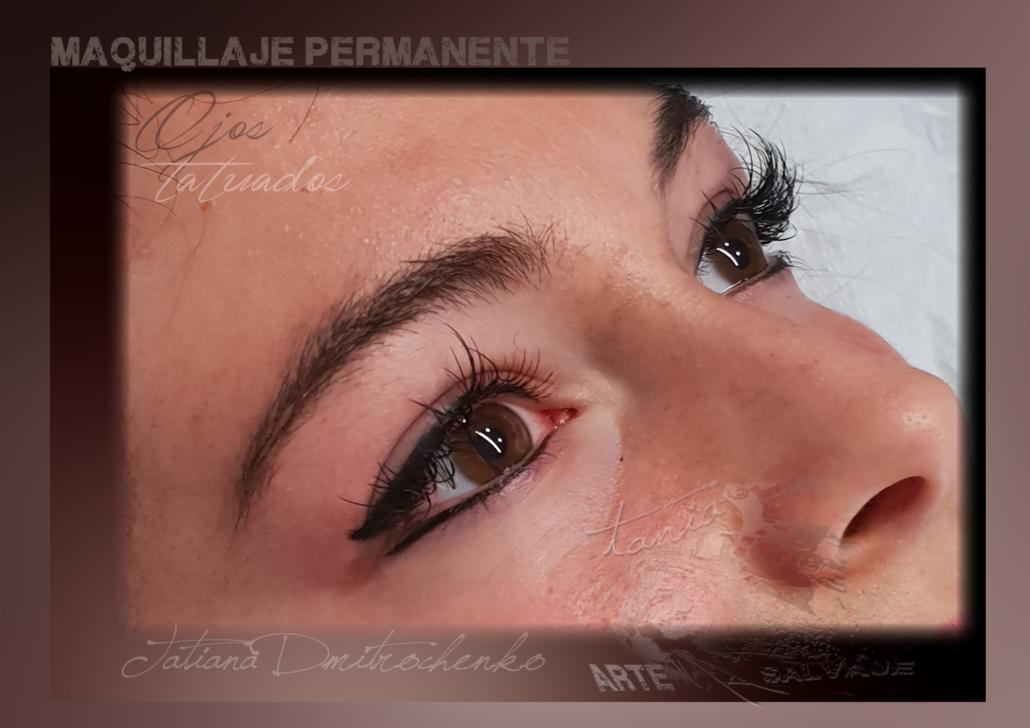 micropigmentacion eyeliner ojos tatuados raya ariba abajo valencia