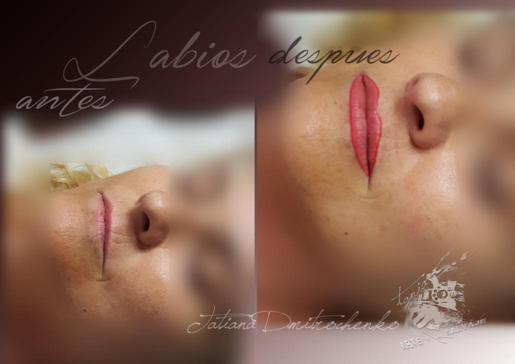 micropigmentacion de labios efecto pintalabios rosa valencia