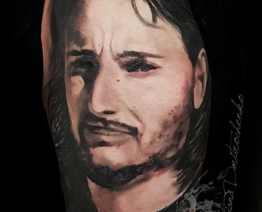 Tattoo tatuaje retrato realista hombre Barzo