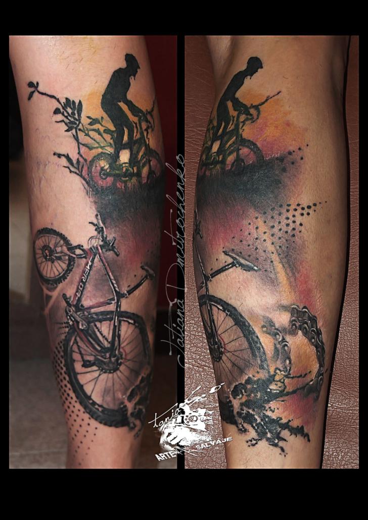 tatuaje cover up bici ciclista cicle valencia