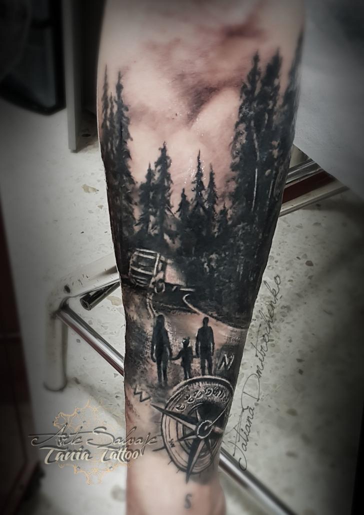 tatuaje cover up chofer carretera paisaje valencia (1)