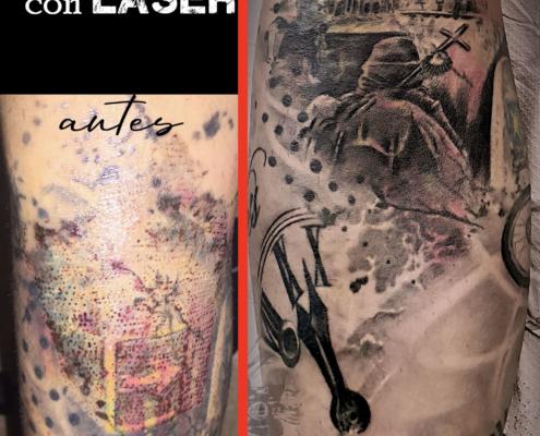 tatuaje cover up eliminacion con laser valencia