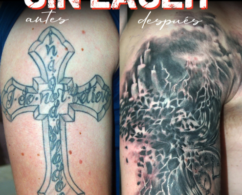 tatuaje cover up sin eliminacion con laser valencia