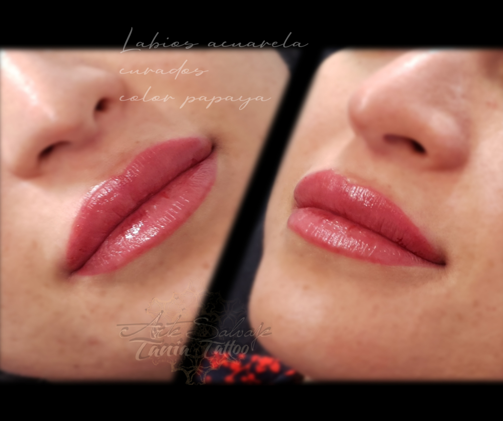 labios perfectos tatuados a la acuarela micropigmentacion en valencia
