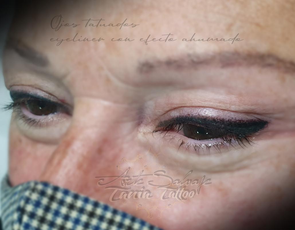 micropigmentacion de ojos eyeliner con difuminado en valencia isa 2
