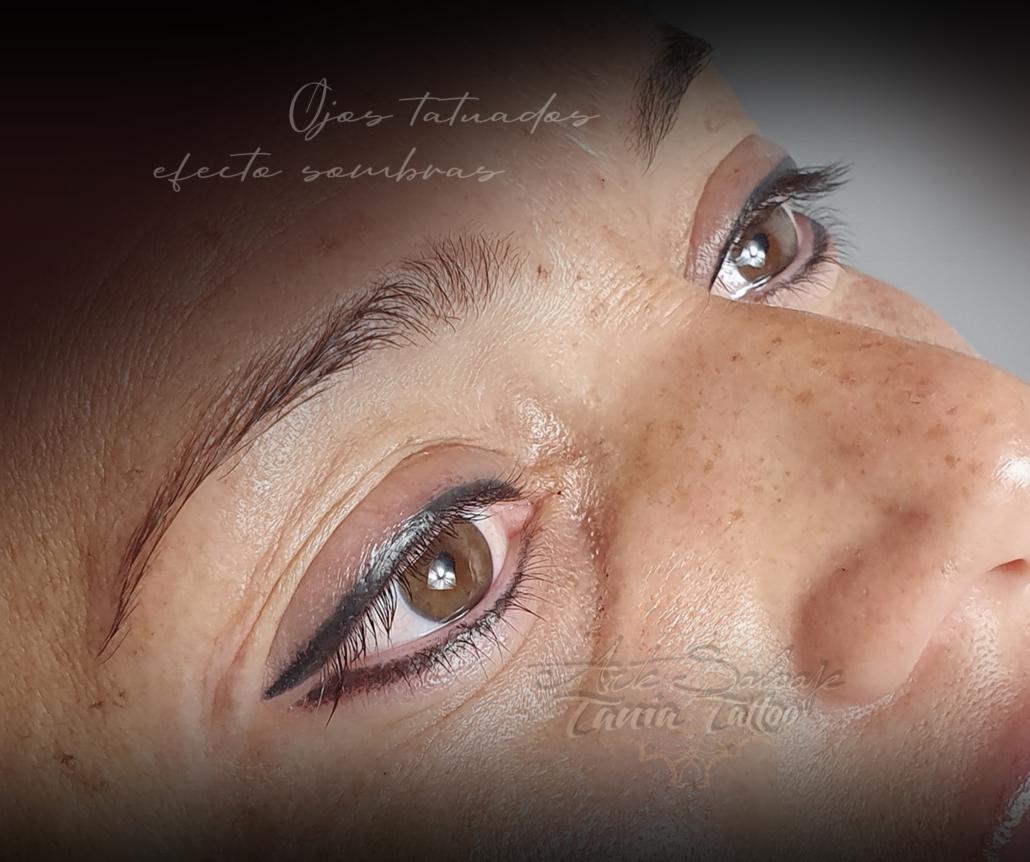 ojos tatuados sombreados bonitos y perfectos eyeliner de micropigmentacion en valencia