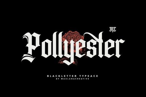 Tipografía Tatuajes Pollyester – Blackletter